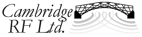 Cambridge RF Ltd. Logo greyscaled