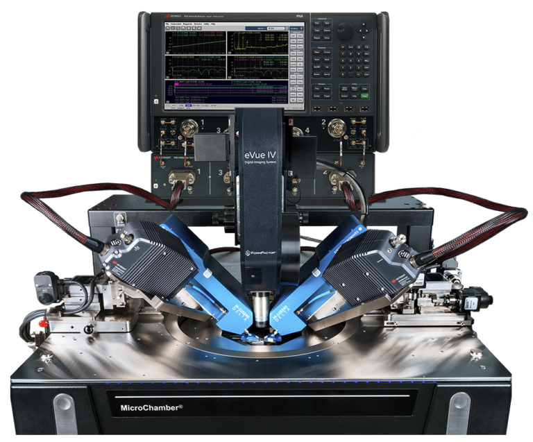 FormFactor Probe station with Focus Microwaves new Delta Tuners supported by Keysights Vector Network Analyzer