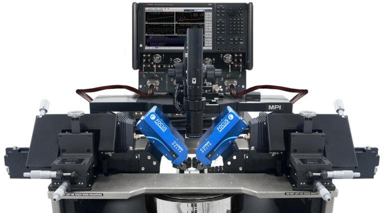 MPI Probe station with Focus Microwaves new Delta Tuners supported by Keysights Vector Network Analyzer